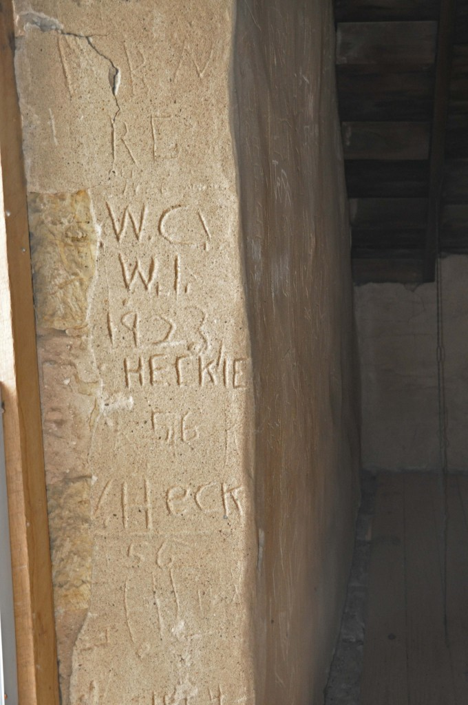 People have carved their names into the limestone inside the buildings for over 90 years!